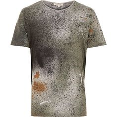 Green spray paint t-shirt £18 #RImenswear