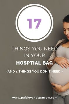 Here is your list of what to pack in your hospital bag when you are ready to have a baby! Everything for mom to be and for your newborn, plus 4 items you don't need to bring! Every pregnant new mom must read. Packing Hospital Bag, Hospital Bag Checklist, Hospital Birth, Best Hospitals, Pregnancy Nutrition, Pregnancy Stages, Preparing For Baby, First Time Moms, What To Pack
