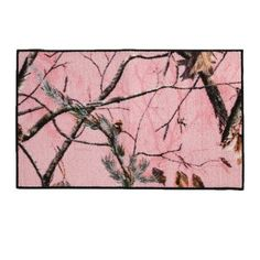Realtree Pink Camouflage 18x30 Accent Rug $17.99