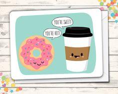 Cute Friendship Card, Funny Love Card, Sweet Card, Pun Card, Funny Romance Card, Just Because, I like you, You're Cute Card, Friend Card