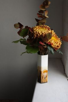 Large Square Vase - 105, Studio Glaze, Fine Bone China, Reiko Kaneko