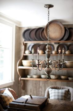 Buy the Hinkley Lighting Olde Bronze Direct. Shop for the Hinkley Lighting Olde Bronze Cambridge 5 Light 1 Tier Candle Style Chandelier and save. Primitive Homes, Primitive Kitchen, Country Kitchen, Country Living, Primitive Country, Primitive Decor, Wooden Chargers, Sweet Home, Hinkley Lighting