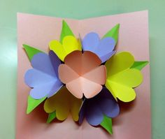 Pop Up Mother's Day Card  •  Free tutorial with pictures on how to make a pop up card in under 60 minutes