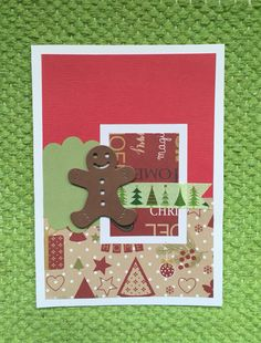 Carte de Noël avec un pain d'épice à croquer !