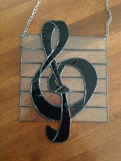 Stained glass treble clef for my music lover.