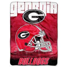 Bed Blanket Georgia Bulldogs NCAA 60X80 Inches Team Color