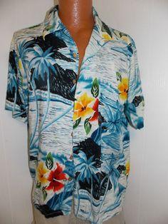 Vintage Mens Rayon Hawaiian Kennington LTD Californai Hawaii Shirt Size XL  #Kennington