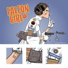 Awesome Tank Girl/Princess Leia mashup by artist James Hance.