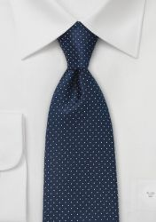 Krawatte Tupfen-Pattern navy günstig kaufen