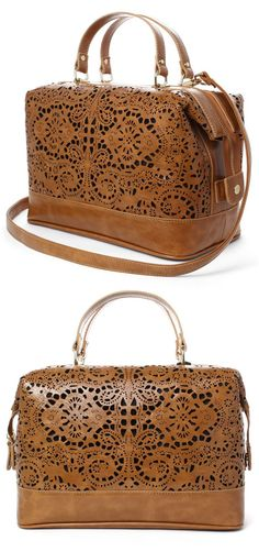 I have this purse and love it! I get so many compliments on it. Cognac Lasercut Tote