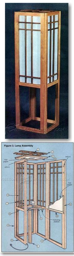 Shoji Screen Lamp Plans - Woodworking Plans and Projects | WoodArchivist.com