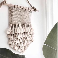 Theses beautiful jute wall hangings look gorgeous in any interior