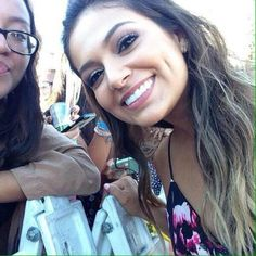 Beth with a fan! (Date unknown)