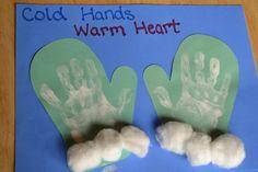 hands inside of mittens...too cute!