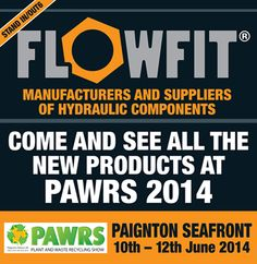 Come down and see us at the PAWRS Plant and waste recycling show Today, Wednesday and Thursday in Paignton, Devon! We will be happy to answer any questions you may have for us