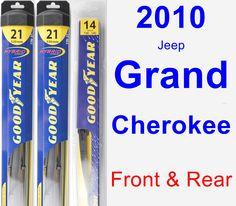 Front & Rear Wiper Blade Pack for 2010 Jeep Grand Cherokee - Hybrid