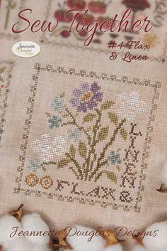 jeannette douglas designs sew together flax & linen cross stitch Cross Stitch Fabric, Cross Stitch Kits, Cross Stitch Charts, Cross Stitch Designs, Cross Stitching, Cross Stitch Embroidery, Cross Stitch Patterns, Quilt Patterns, Tent Stitch