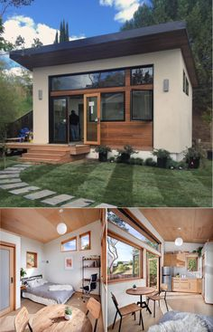 With its fantastic climate, beautiful landscapes, and multitude of people looking for a different lifestyle, the tiny house movement has really taken Tiny House Blog, Tiny House Cabin, Tiny House Living, Small House Plans, Modern Tiny House, Tiny House Movement, Tyni House, Backyard House, Backyard Office