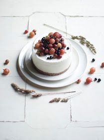 _our food stories_: glutenfree iced gooseberry cake