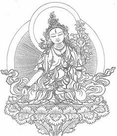 white tara drawing