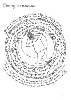 Hypnobirthing activity for pregnant women, Colouring Page