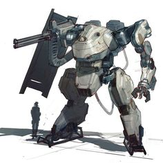 Wanted to do a mech after seeing Mr. Carlo Arellano's new work. Ignore the weird…