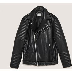 BIKER JACKET - View all-JACKETS-MAN   ZARA Canada ($39) ❤ liked on Polyvore featuring outerwear, jackets, rider jacket, moto jacket, biker jacket and motorcycle jacket