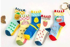 2016 new arrive fashion brand caramella cute cartoon fruits socks women new style harajuku colorful meias socks
