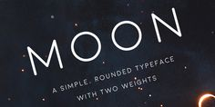 Moon – simple, rounded font