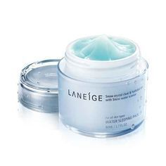 [Laneige] Water Sleeping Mask - It doesn't seem like it does much at first but this always shrinks my pores and calms down redness on my face whenever I use it. My face is also softer and I look more well rested when I use this after a night of not going through my full skincare routine.