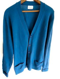 Benetton Cardigan 100 Pure lambs wool Sweater by GnarlyNutmeggers, $26.00