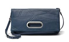 Ella Leather Fold-Over – Faceted Ice Back