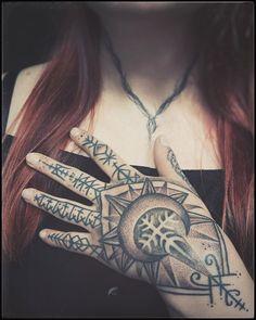 "Habba Nero Handpoke Artist on Instagram: ""Finished Sunna's hand today 🤍 Takk yndislegust!  Handpoked in Reykjavík, Iceland @icelandtattoo"""