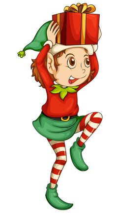 illustration of a christmas elf christmas elves pinterest