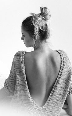 Grey Knitted Sweater with Open Back | Pacific Sweater by Mija from We Are Knitters