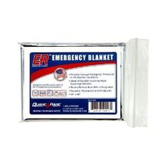 An emergency thermal blanket can come in handy in any weather...and they are so fashionably silver