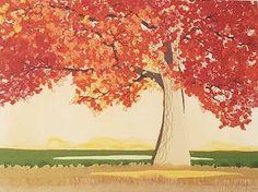 Genähter Herbstbaum, 30 x 40 cm
