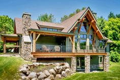 Picture gallery of our award-winning timber frame homes. We design, craft, and install these energy-efficient building envelopes across North America. Cabin Homes, Cottage Homes, Log Homes, Lake House Plans, Mountain House Plans, Cabin Floor Plans, Timber Frame Homes, Timber House, Cabin Design
