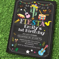Mexican Fiesta Birthday invitation Fiesta Party by miprincess