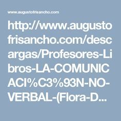 """Artículo sobre """"LA COMUNICACIÓN NO VERBAL"""" de Flora Davis"""