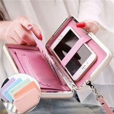 Women Leather Wallet Long Purse Ladies Card Holder Case Clutch Phone Handbag