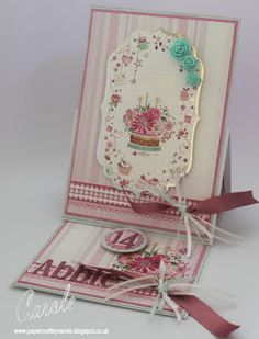 """A5 Easel card using Hunkydory topper and matching cardstock, with Die'sire 1"""" Contemporary Alphabet and Number dies. #papercraftbycarole #crafterscompanion"""