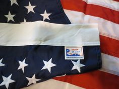 US Banner Flag-100% Made In USA Flags--This American Flag is Tough Enough for Strong Weather and Hot Sun With Embroidered Stars and Sewn Stripes (2.5' x 4')