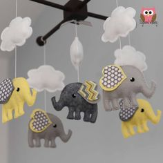 Elephant Mobile - Custom Mobile (ships in 4-6 weeks) on Etsy, $105.00