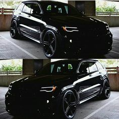 Its Darth Vaders Jeep! Owned by @_nightrider_Sent in by @musclecarzone Jeep Srt8, Jeep Rubicon, Mopar, Jeep Grand Cherokee Srt, Amazing Cars, 4 Wheel Drive Suv, Exotic Cars, Murdered Out, Sexy Cars
