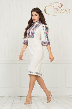 Сукня з вишивкою, льон, фото 2