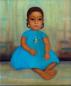 Little Girl in the Blue Dress By Gustavo Montoya