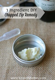 Are your lips in pain from being chapped or sun burnt? Here's a SUPER SIMPLE, 3 ingredient DIY chapped lip remedy made with natural ingredients.