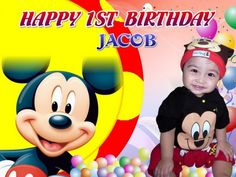 15 best mickey mouse birthday banner for kid images birthday