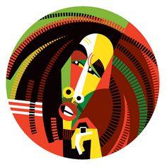 A Pablo Picasso-esque Bob Marley Pablo Picasso, Character Illustration, Graphic Design Illustration, Illustration Art, Bob Marley Art, Rock Argentino, Celebrity Caricatures, Arte Pop, Art Abstrait